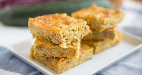 Courgette blondies